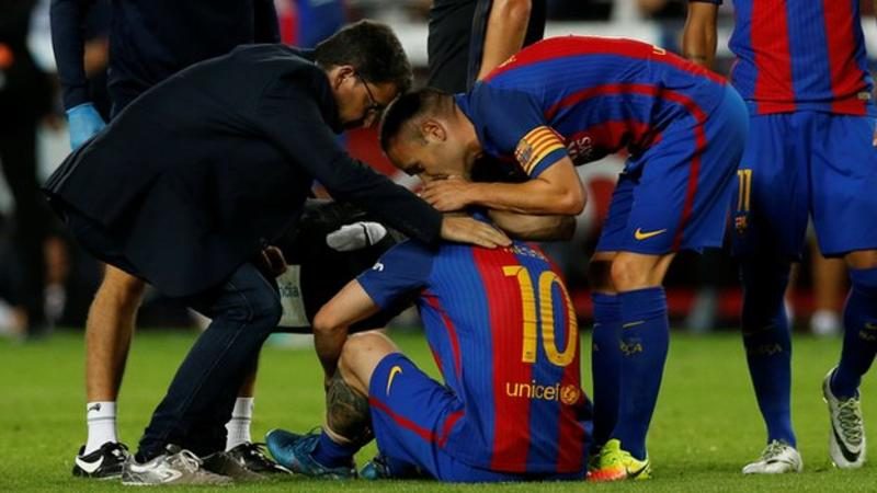 Lionel Messi out for 3 weeks after GroinInjury